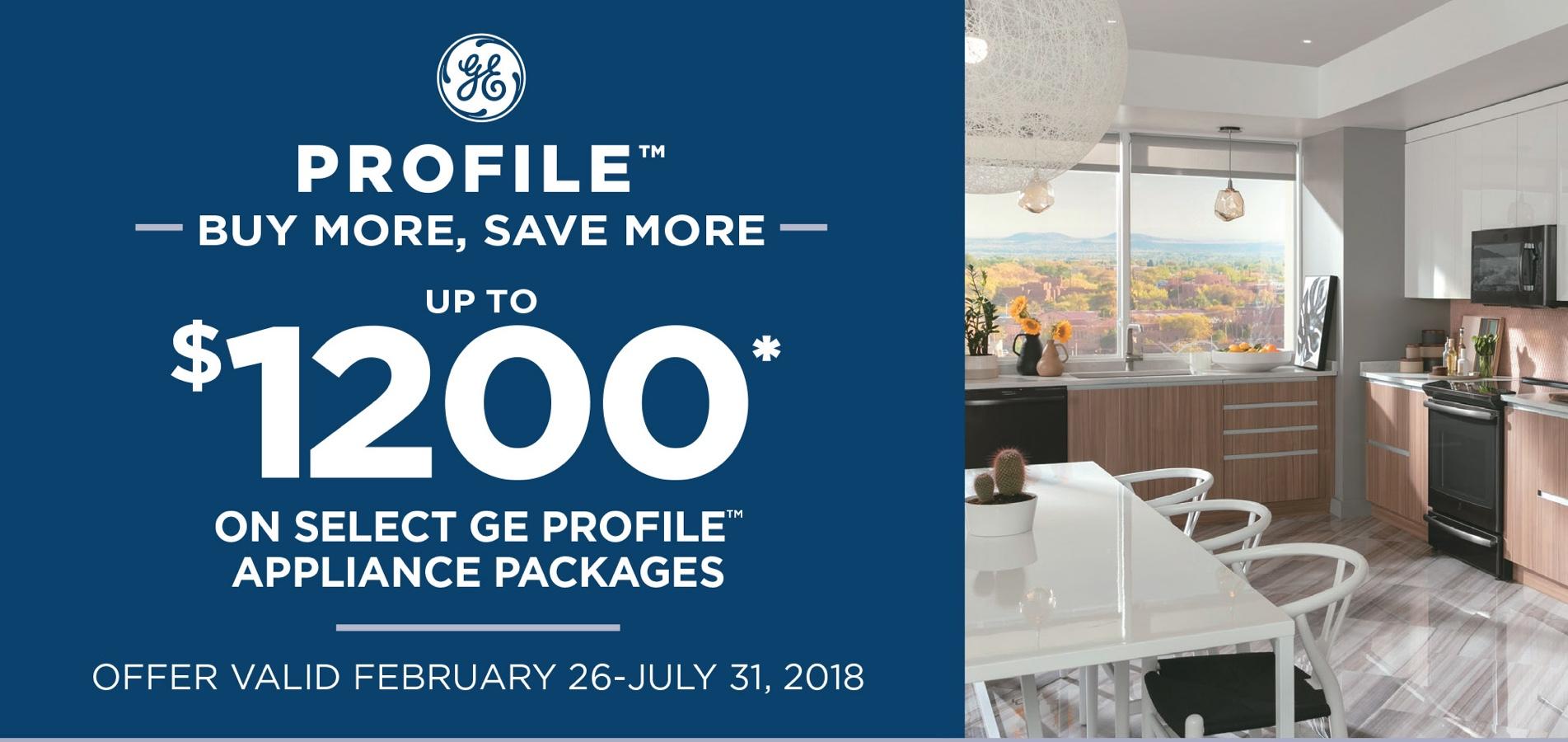 GE Profile Buy More Save More