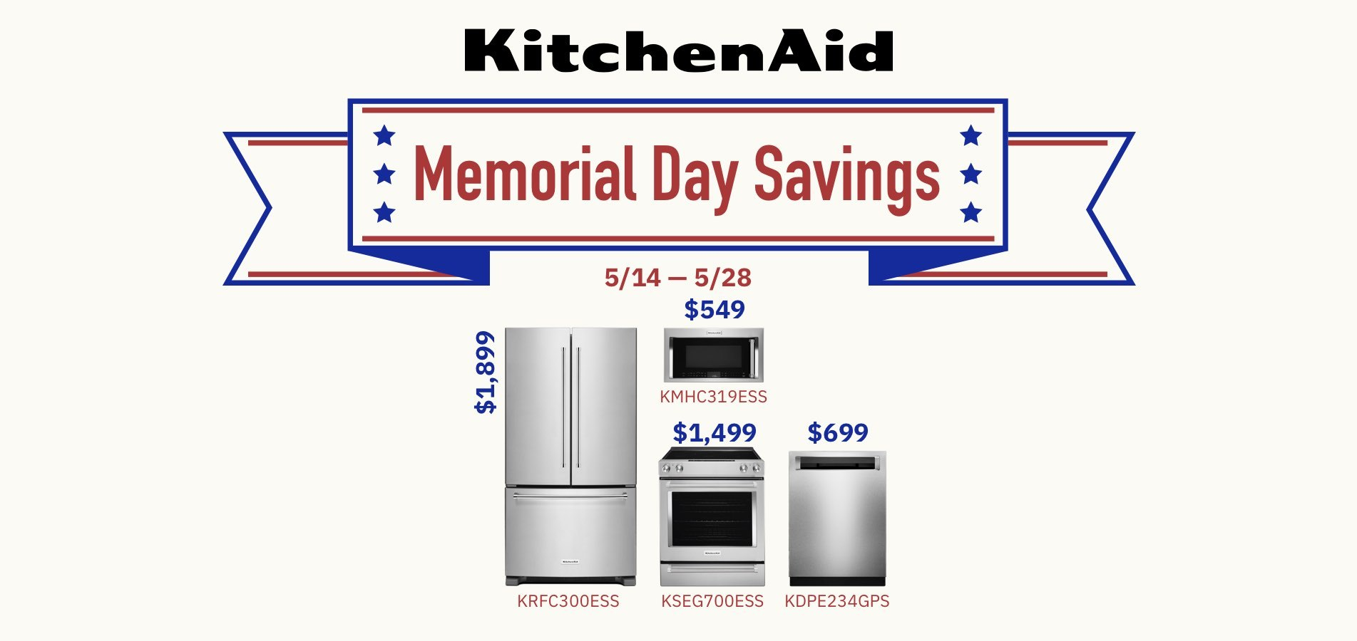 KitchenAid Memorial Day