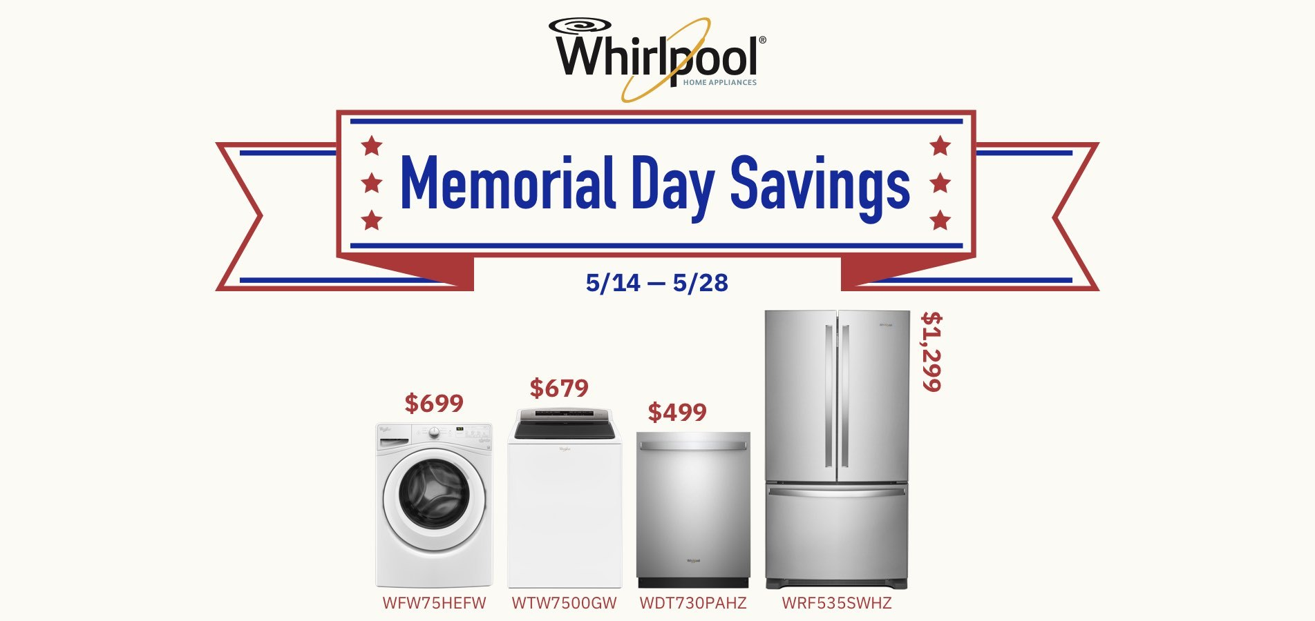 Whirlpool Memorial Day