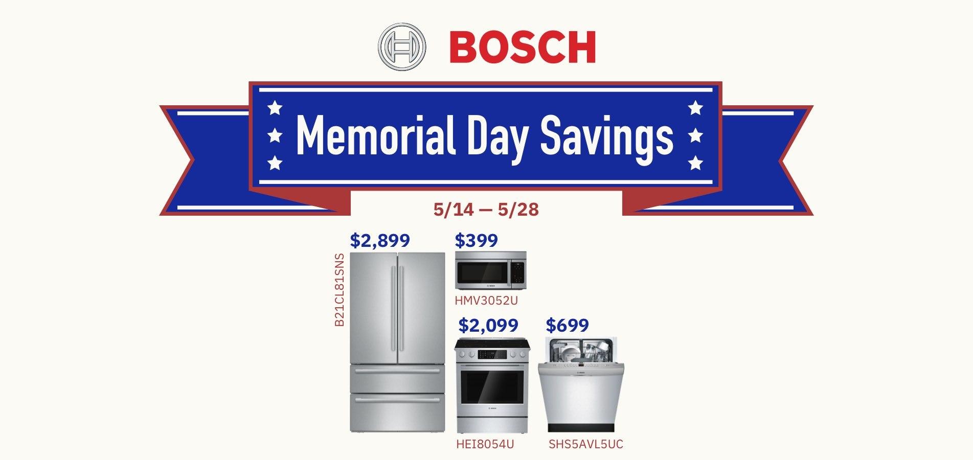 Bosch Memorial Day