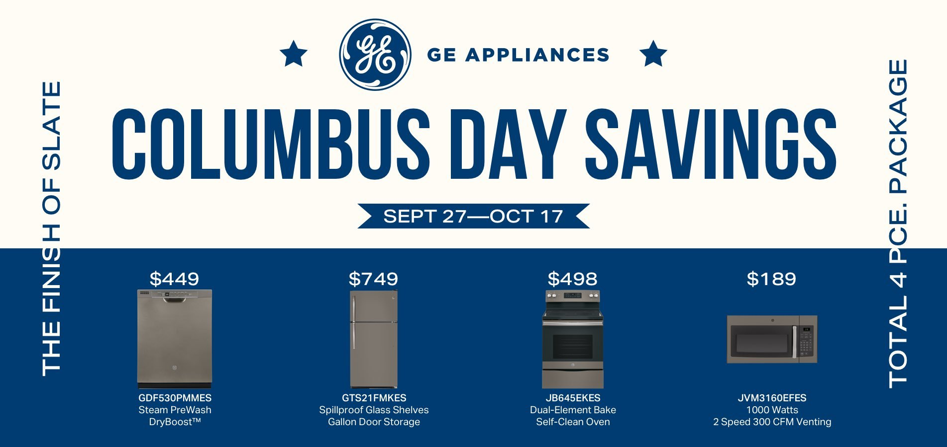 GE Columbus Day Savings