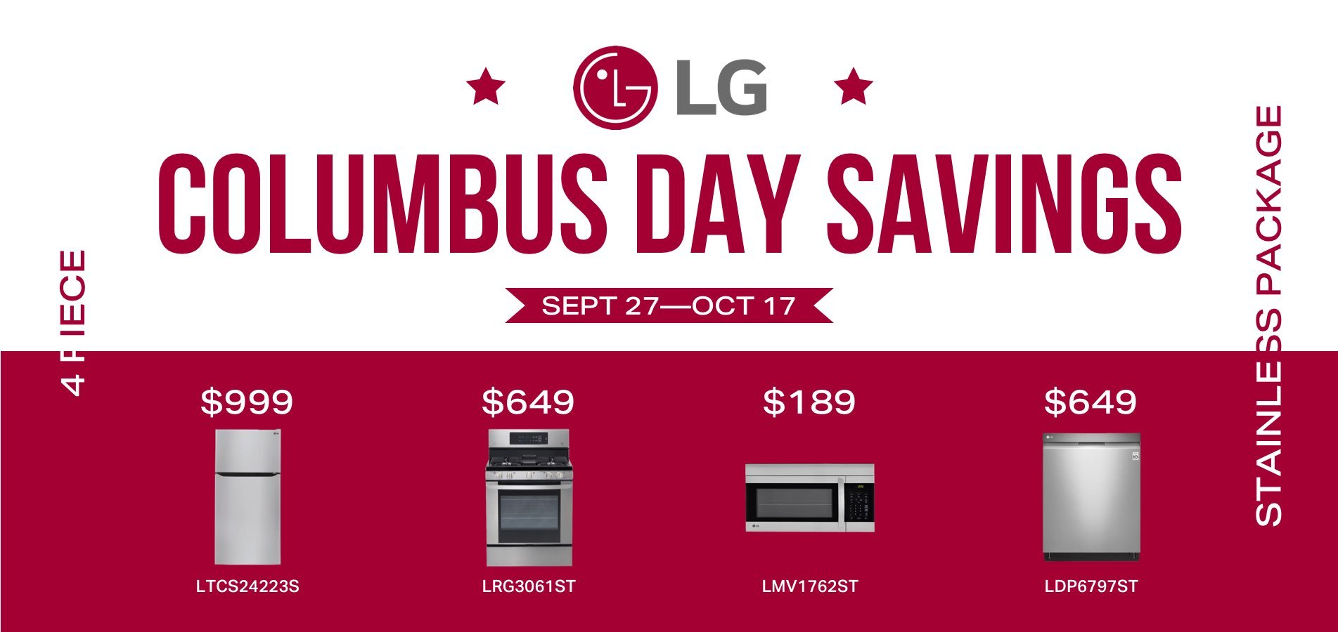 LG Columbus Day Savings