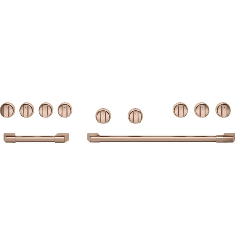 """Cafe Café™ 48"""" Brushed Copper Handle & Knob Set for Pro Range and Rangetop"""