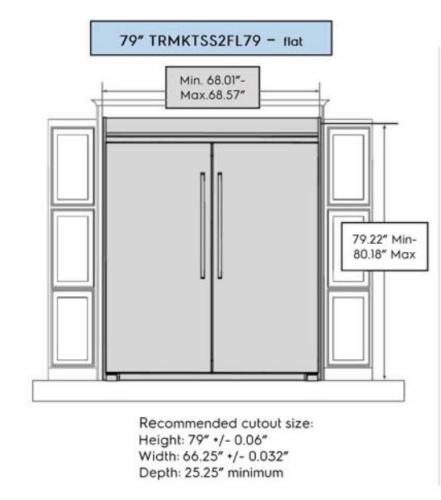 """Electrolux 79"""" Flat Trim Kit"""