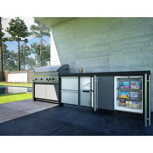 "Model: UODR124-SS61A | U-Line 24"" Wide Outdoor Refrigerator Drawer"