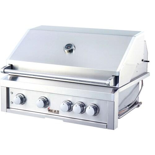 "Model: HTGR32-4-LP | Heat Grills HEAT 32"" 4-Burner Gas Grill w/ Infrared Burner - LP Gas"