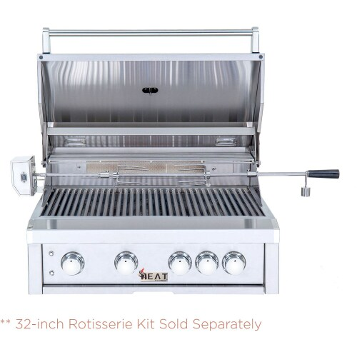 "Model: HTGR32-4-LP | Heat Grills HEAT 32"" 4-Burner Gas Grill w/ Infrared Burner - LP Gas"
