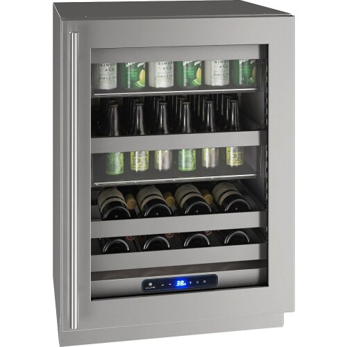 "U-Line 24"" Wide Glass Door Refrigerator"
