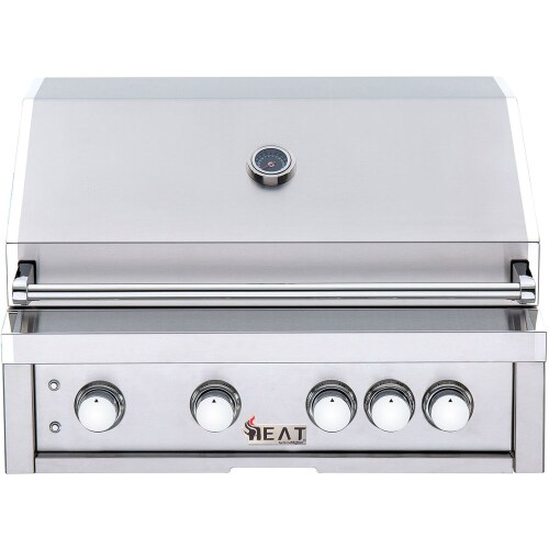 "Heat Grills HEAT 32"" 4-Burner Gas Grill w/ Infrared Burner - LP Gas"