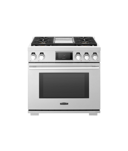 Signature Kitchen Suite by LG  36-inch Dual-Fuel Pro Range with Steam-Assist Oven and Griddle