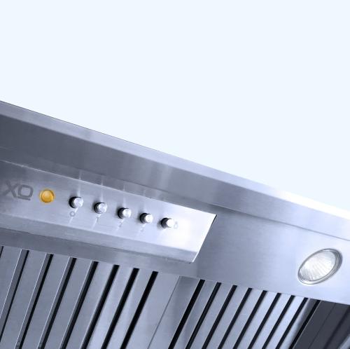 """Model: XOI3315SC   XO Appliances 33"""" 600/395 CFM Pro Insert only 15"""" Deep For Custom Built Hood, Stainless"""