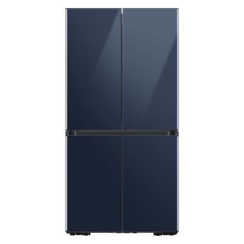 Samsung 29 cu. ft. Smart BESPOKE 4-Door Flex Refrigerator with Customizable Panel Colors in Navy Glass