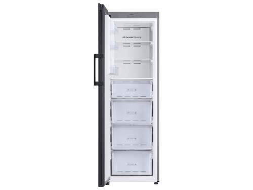Model: RZ11T747431 | Samsung 11.4 cu. ft. BESPOKE Flex Column refrigerator with customizable colors and flexible design in Grey Glass