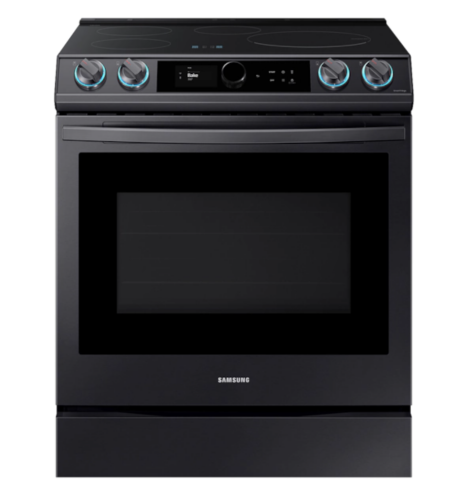 Samsung 6.3 cu. ft. Smart Slide-in Induction Range with Smart Dial & Air Fry in Black Stainless Steel