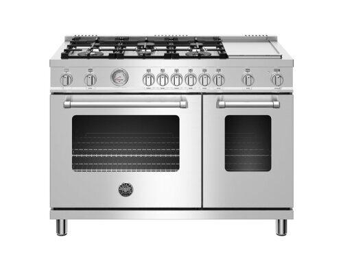 "Bertazzoni  48"" Master Series range - Electric oven - 6 aluminum burners + griddle"