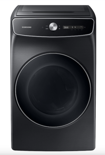 Samsung 7.5 cu. ft. Smart Dial Electric Dryer with FlexDry™ and Super Speed Dry in Brushed Black