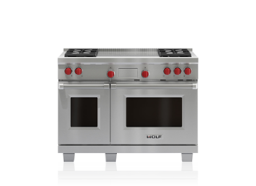 "Wolf 48"" Dual Fuel Range - 4 Burners and French Top"