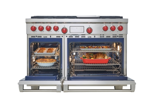 "Model: DF484F-LP | Wolf Legacy Model - 48"" Dual Fuel Range - 4 Burners and French Top"