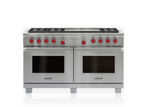 "Wolf 60"" Dual Fuel Range - 6 Burners and Infrared Dual Griddle"
