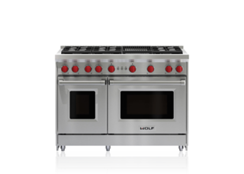 "Wolf 48"" Gas Range - 6 Burners and Infrared Charbroiler"