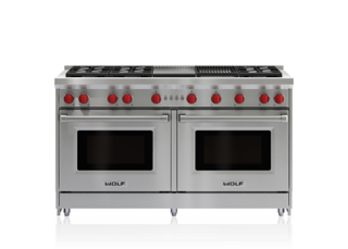 "Wolf 60"" Gas Range - 6 Burners, Infrared Charbroiler and Infrared Griddle"