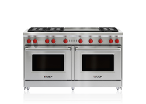"Wolf 60"" Gas Range - 6 Burners and Infrared Dual Griddle"