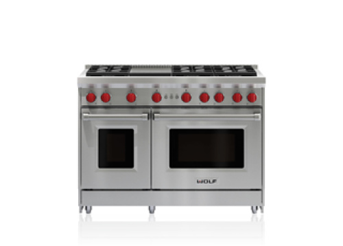 "Wolf 48"" Gas Range - 6 Burners and Infrared Griddle"