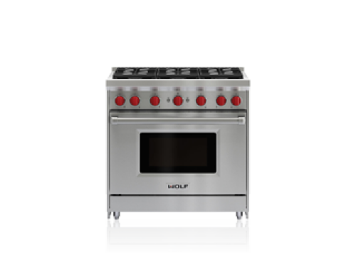 "Wolf 36"" Gas Range - 6 Burners"