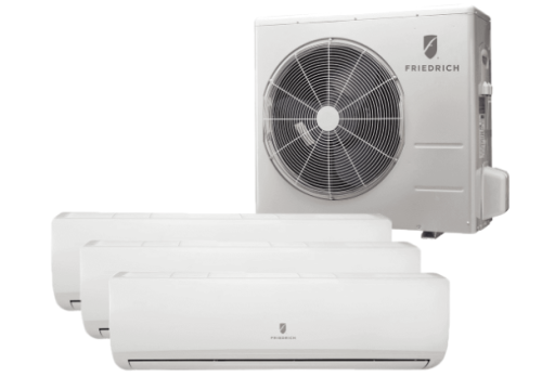 3 Zone Wall-Mounted Ductless Split System heat pump