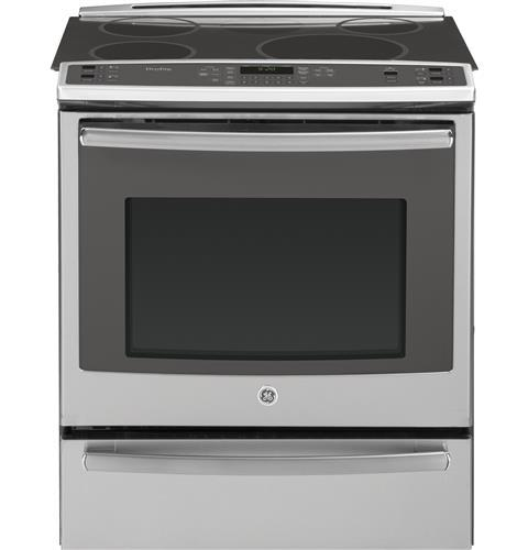 "GE Profile GE Profile™ Series 30"" Slide-In Front Control Induction and Convection Range with Warming Drawer"