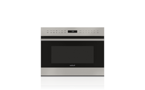 "Wolf 24"" E Series Transitional Drop-Down Door Microwave Oven"