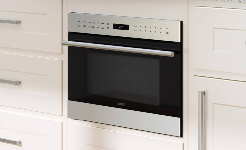 "Model: MDD24TE/S/TH | Wolf 24"" E Series Transitional Drop-Down Door Microwave Oven"