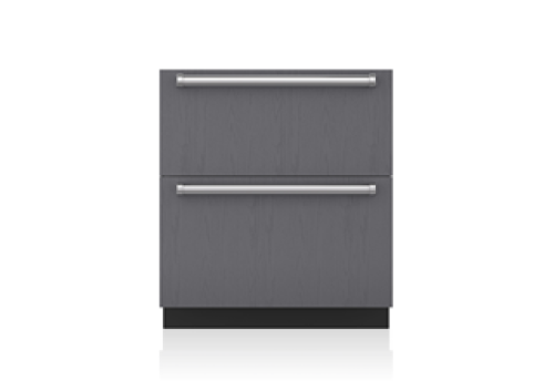 "Sub-Zero 30"" Designer Refrigerator Drawers with Air Purification - Panel Ready"