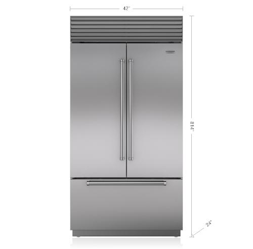 "Model: BI-42UFDID/S/PH | Sub-Zero 42"" Classic French Door Refrigerator/Freezer with Internal Dispenser"