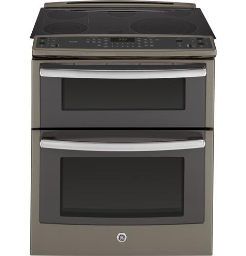"""GE Profile GE Profile™ Series 30"""" Slide-In Front Control Double Oven Electric Convection Range"""
