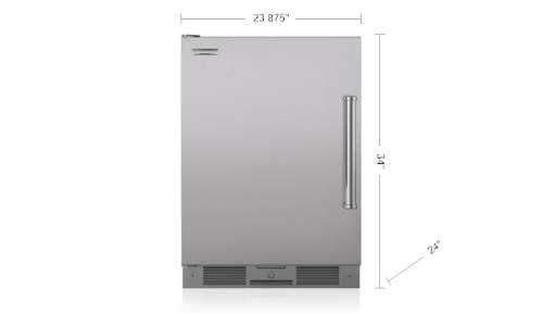 "Model: UC-24RO/PH-RH | Sub-Zero 24"" Outdoor Undercounter Refrigerator - Stainless Door"