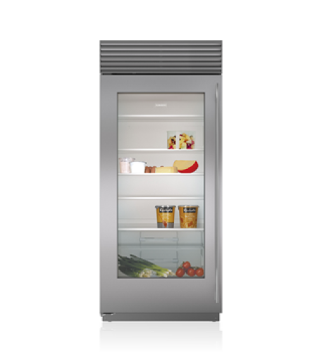 "Sub-Zero 36"" Classic Refrigerator with Glass Door"
