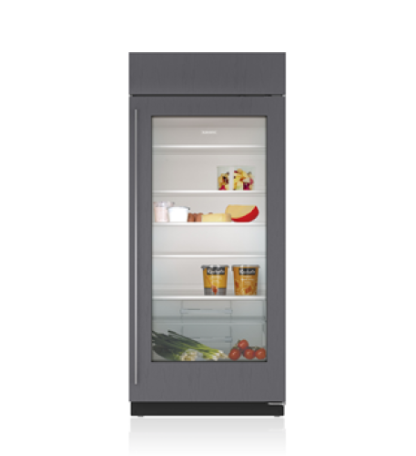 "Sub-Zero 36"" Classic Refrigerator with Glass Door - Panel Ready"