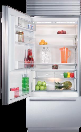 "Model: BI-30U/S/TH-LH | Sub-Zero 30"" Classic Over-and-Under Refrigerator/Freezer"