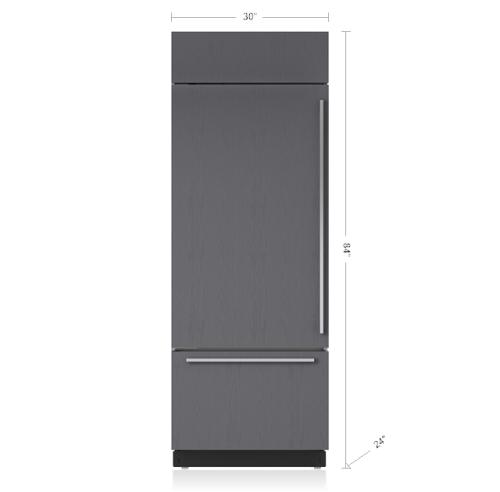 "Model: BI-30U/O-RH   Sub-Zero 30"" Classic Over-and-Under Refrigerator/Freezer - Panel Ready"
