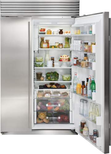 "Model: BI-48SID/S/PH | Sub-Zero 48"" Classic Side-by-Side Refrigerator/Freezer with Internal Dispenser"