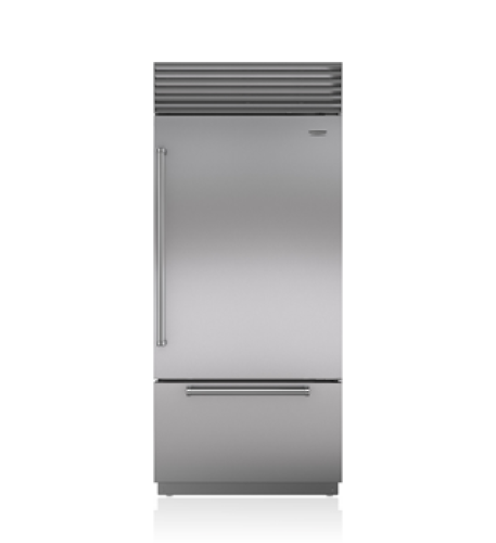 "Sub-Zero 36"" Classic Over-and-Under Refrigerator/Freezer with Internal Dispenser"