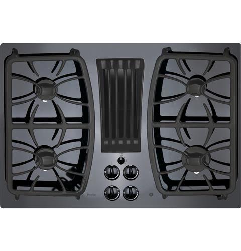 "Model: PGP9830DJBB | GE Profile GE Profile™ Series 30"" Built-In Gas Downdraft Cooktop"