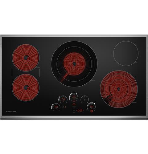 "Model: ZEU36RSJSS | Monogram Monogram 36"" Touch Control Electric Cooktop"