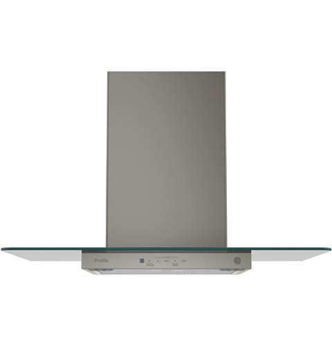 "Model: PVW7301EJES | GE Profile GE Profile™ Series 30"" Wall-Mount Glass Canopy Chimney Hood"