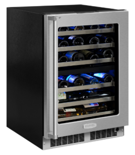 24 High-Efficiency Dual Zone Wine Cellar (Marvel Professional)
