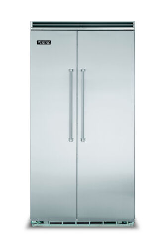 "Viking 42""W. BI Side-by-Side Refrigerator/Freezer-Stainless"