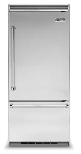 "Model: VCBB5363ERSS | Viking 36""W. BI Bottom-Mount Refrigerator/Freezer (RH)-Stainless"