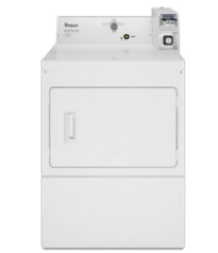 Whirlpool Commercial Electric Super-Capacity Dryer, Coin-Slide and Coin-Box