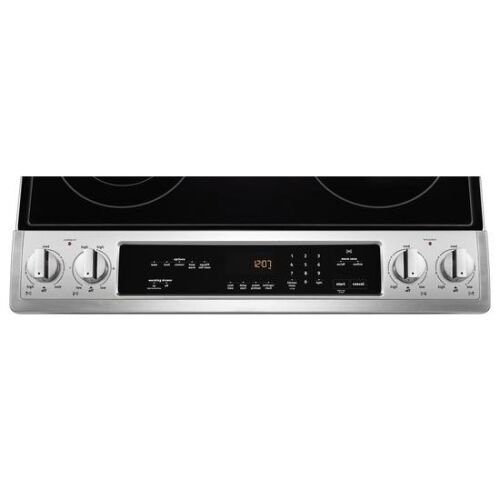 Model: MES8800FZ | Maytag 30-Inch Wide Slide-In Electric Range With True Convection And Fit System - 6.4 Cu. Ft.